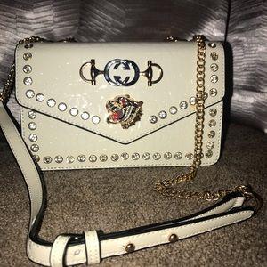 Handbags - White tiger cross body purse